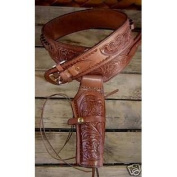 NEW Brown Single 22 cal Leather Holster Western Cowboy Rig 22 cal Ammo Loops ***