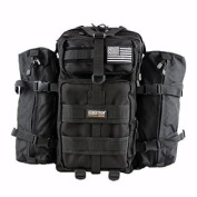 Seibertron Falcon Tactical Backpack Compact Assault Pack Summit Bag (Black 37L