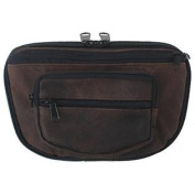 LARGE - DTOM Concealed Carry Fanny Pack RUGGED ULTRA-SOFT SUEDE Leather-BROWN