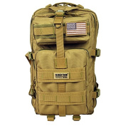 Seibertron Falcon Tactical Backpack Compact Assault Pack Summit Bag Khaki 37L