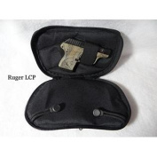 SMALL - DTOM Concealed Carry Fanny Pack SUEDE LEATHER-Black