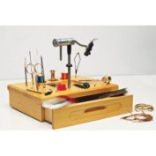 Wetfly Wooden Fly Tying Station with Tools