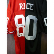 18802 Signed Rice Jerry San Francisco 49ers-Oakland Raiders Jersey by Jerry Rice. - PSA Authenticated
