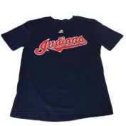 Cleveland Indians Majestic Youth Navy Nick Swisher #33 Cotton Player T-Shirt