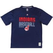 Cleveland Indians Majestic CoolBase Tshirt Size L- Navy
