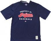 "Cleveland Indians Majestic CoolBase ""Property of"" Short Sleeve Tshirt Size L"