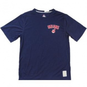 Cleveland Indians Majestic CoolBase Tshirt Navy Logo Size L