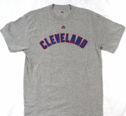 Cleveland Indians Nick Swisher #33 Majestic Short Sleeve T Shirt Size L