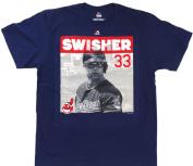 Cleveland Indians Nick Swisher #33 Majestic Short Sleeve Shirt Size L