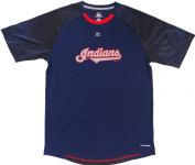 Cleveland Indians Majestic CoolBase Name Short Sleeve Tshirt Size L