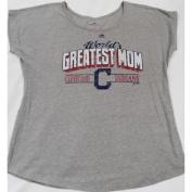 "Cleveland Indians Majestic ""World's Greatest Mom"" Short Sleeve T Shirt Ladies Size M"