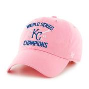 Kansas City Royals 47 Brand Women 2015 World Series Champions Pink Adj Hat Cap