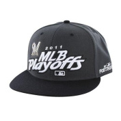 Milwaukee Brewers Charcoal 2011 Playoffs Official Locker Room Snapback Hat