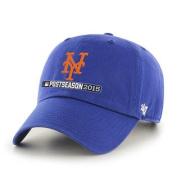 New York Mets 2015 MLB Postseason Playoffs Blue Relax Adj Hat Cap