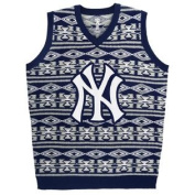 New York Yankees Aztec Print Ugly Sweater Vest Mens Size L w/ Priority Shipping