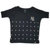 New York Yankees 47 Brand Navy Women's Polka Dot Vintage T-Shirt