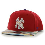 New York Yankees 47 Brand Red Warchild Wool Adjustable Snapback Hat Cap