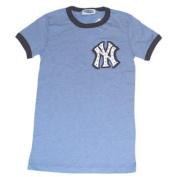 New York Yankees Blue Womens Rhinestone Logo T-Shirt
