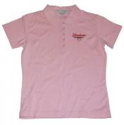 New York Yankees Baseball Youth Girl Short Sleeve Shirt Polo Pink