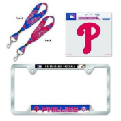 Philadelphia Phillies Licence Plate Frame and Key Chain Gift Set