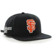 San Francisco Giants 47 Brand Black Frat Party After Dark Adjust Strap Hat Cap