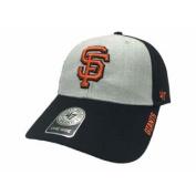 San Francisco Giants Light Grey & Black Structured hook and loop Adj Hat Cap
