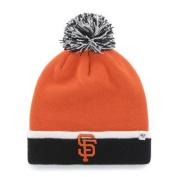 San Francisco Giants Orange Black Baraka Cuffed Poofball Beanie Hat Cap