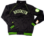 Brooklyn Nets Majestic NBA E-Systems Track Jacket w/ Neon Accents Size LT