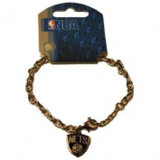 Brooklyn Nets Aminco, Inc. Women Silver Black Chain Bracelet