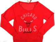 Chicago Bulls Mitchell & Ness Vintage Lightweight Pullover Sweatshirt Womens Size M