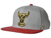 Chicago Bulls 47 Brand Grey Red Cobbled Bill Adjustable Strapback Hat Cap