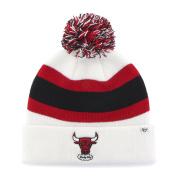 Chicago Bulls 47 Brand White Red Black Retro 1984 Cuff Breakaway Beanie Hat Cap