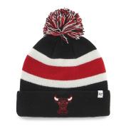 Chicago Bulls Tri-Tone Breakaway Retro 1984 Cuffed Poof Beanie Hat Cap