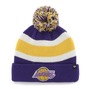 Los Angeles Lakers Tri-Tone Breakaway Retro 1967 Poof Beanie Hat Cap