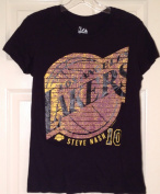 LA Los Angeles Lakers Majestic Steve Nash Tshirt Ladies Size M