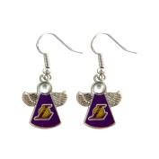NBA Los Angeles Lakers Crystal Angel Dangle Logo Earring Set Charm Gift