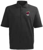 Miami Heat NBA Black Embroidered Majestic Polo Golf Shirt Big & Tall Sizes