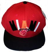 Miami Heat Mitchell and Ness Hardwood Classics Snapback Cap Red/Black