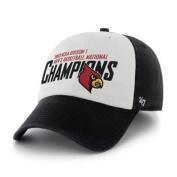 Louisville Cardinals 2013 National Champs '47 Brand White Black Adj Hat Cap