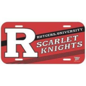 Rutgers Scarlet Knights Plastic Licence Plate