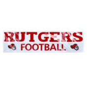 Rutgers Scarlet Knights High Quality Decal - Rutgers Scarlet Knights Over Football