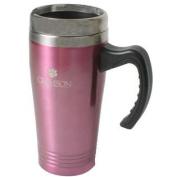 Clemson Tigers 470ml Stainless Steel Travel Mug - Pink