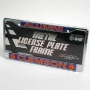 "Clemson Tigers ""alumni"" Metal Licence Plate Frame W/domed Insert"