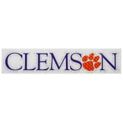 Clemson Tigers Decal - Straight Clemson Tigers with Paw