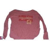 Florida State Seminoles Missfanatic Womens Spear #51 Maroon LS T-Shirt