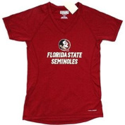 Florida State Seminoles FSU Majestic CoolBase V Neck T SHIRT Ladies Size M