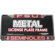 Florida State Seminoles Metal Licence Plate Frame W/domed Insert