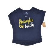 Georgia Tech Yellow Jackets Blue 84 Women Navy Short Sleeve Sheer T-Shirt