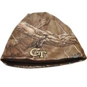 Georgia Tech Yellow Jackets TOW Camo Brown Trap 1 Reversible Knit Beanie Hat Cap