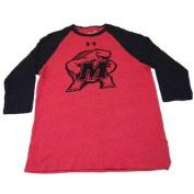 Maryland Terrapins Red HeatGear Long Sleeve Baseball T-Shirt
